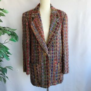 Vintage Blazer Jacket Sz Medium Woven Art to Wear